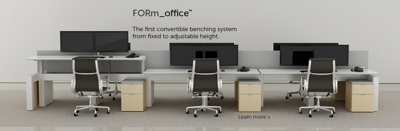 FORm_office Adjustable Height Benching by Innovant