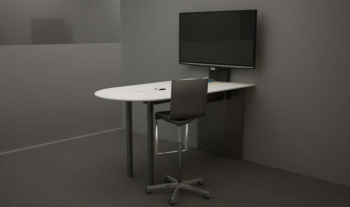 FORm_AV Standing Height Huddle Table by Innovant