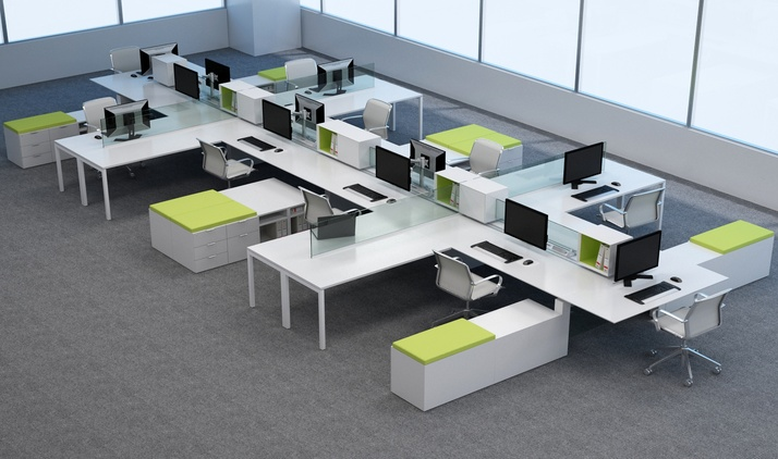 Innovant products worktop extensions for Office design for millennials