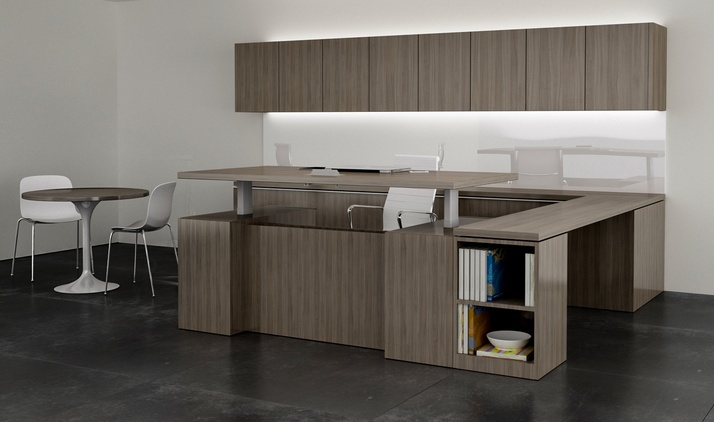PRIVATE_office with Adjustable Height Table